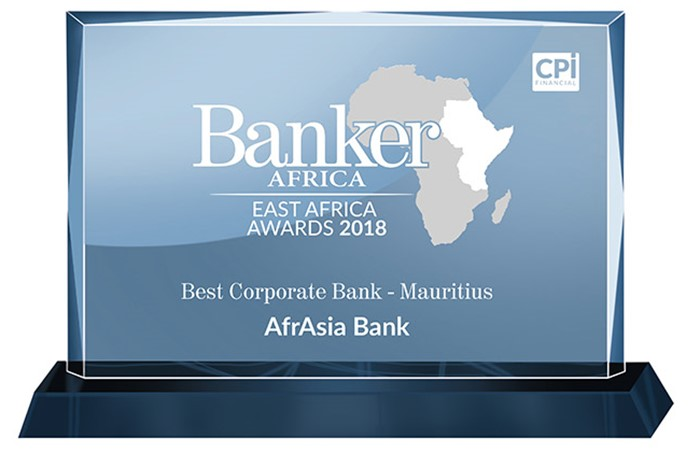 AfrAsia wins the Best Corporate Bank 2018 award for the second year in a row