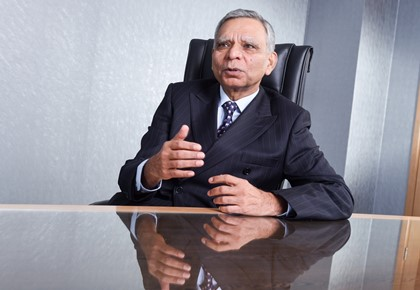 "Sanjiv Bhasin, CEO of AfrAsia Bank: ""To predict the future was a challenge and now we have to create a future."""