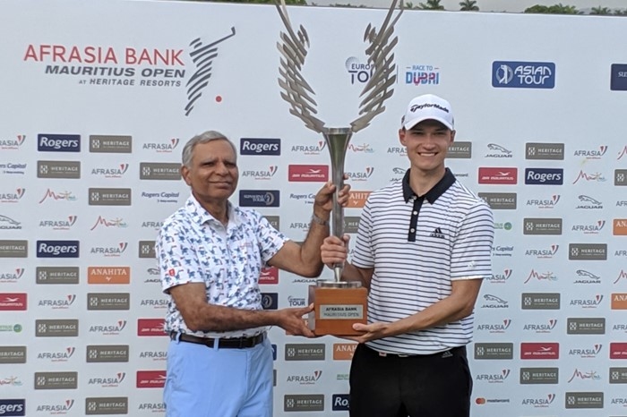 18-year-old claims dream win at AfrAsia Bank Mauritius Open in a playoff