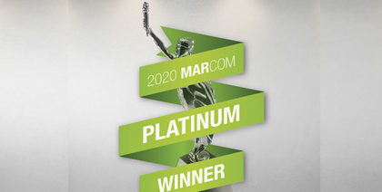 AfrAsia Bank honoured as the first bank in Africa to have been bestowed with the MarCom Platinum Award.